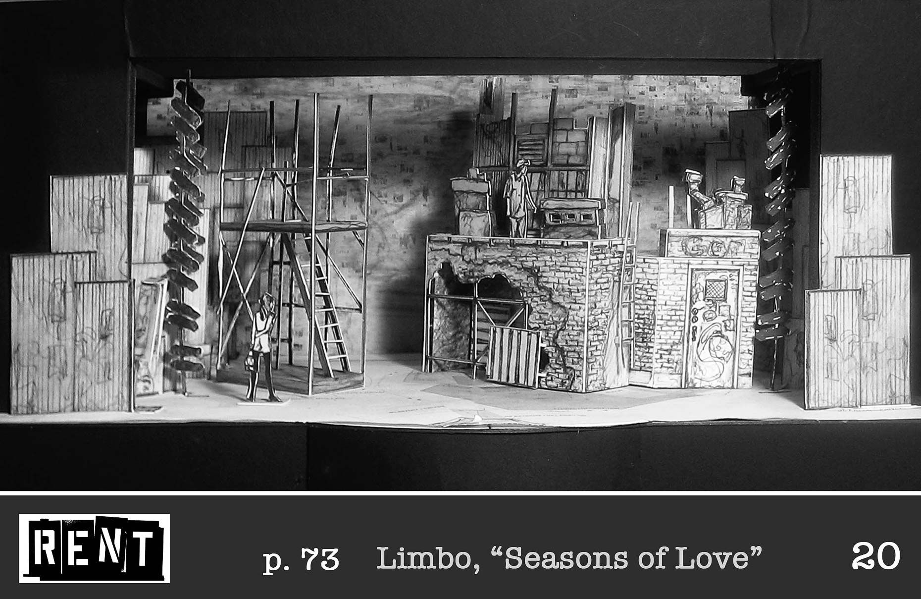 RENT Musical Design Set Design Scenic Design #SetDesign #ScenicDesign