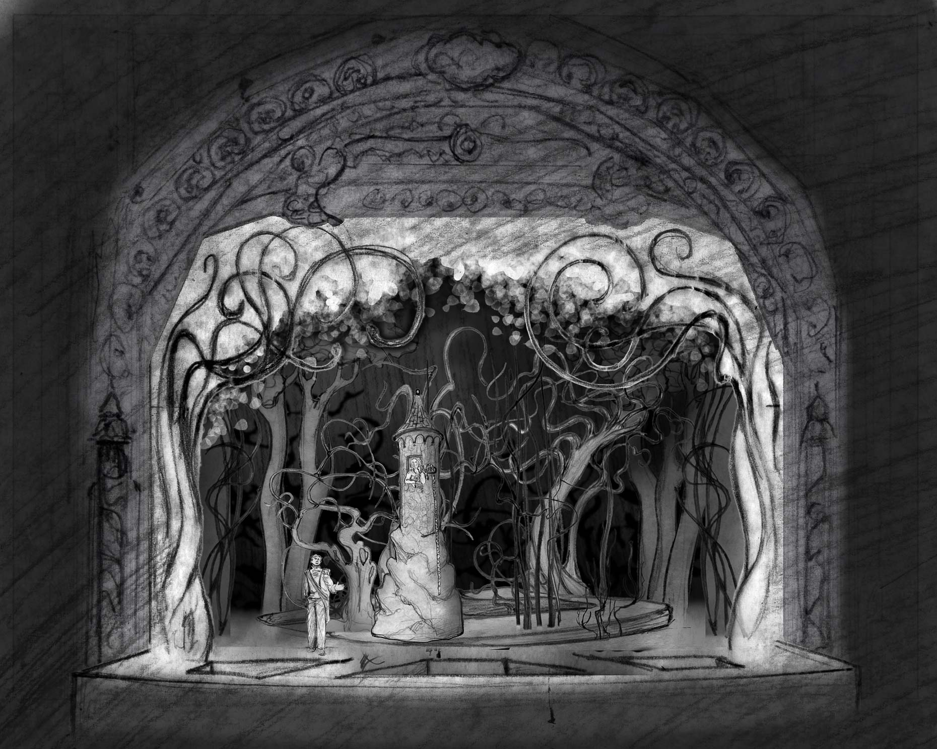 9-INTO THE WOODS Rapunzel sketch